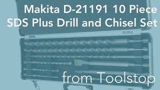 Makita D-21191 10 Piece SDS Plus Drill and Chisel Set