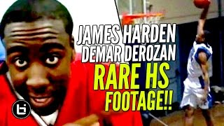 RARE James Harden BEFORE The Beard + DeMar DeRozan DOMINATING In High School! Ballislife Throwback!