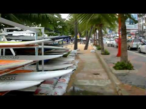 Джомтьен вечером Тайланд Thailand Pattaya Jomtien Beach early evening FullHD 芭堤雅 泰国
