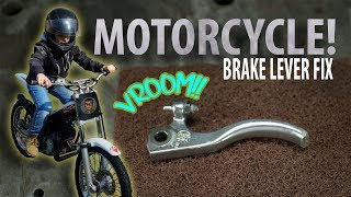 6YR OLD ON TRIAL?! - Broken Brake Lever Fix