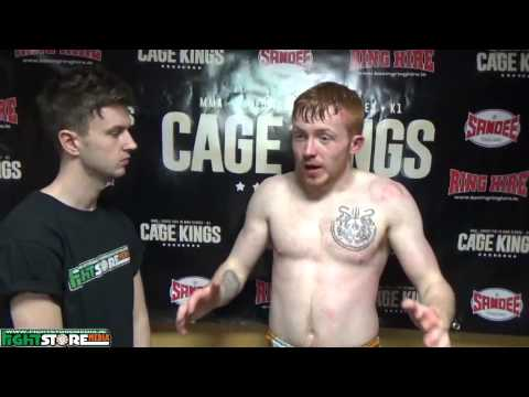 Dylan Meagher post fight interview at Cage Kings Dublin