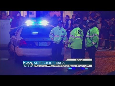 Boston police destroy 2 backpacks at marathon site
