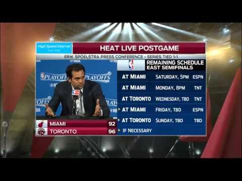 Erik Spoelstra - Miami Heat vs. Toronto Raptors Game 2 postgame 5/5/16