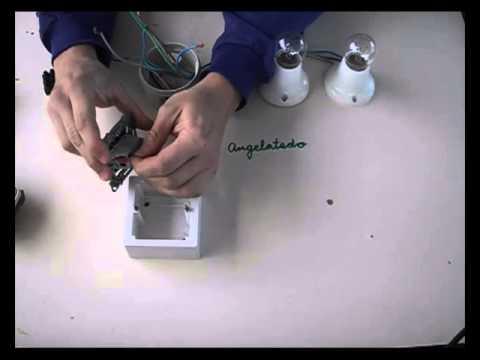 Instalaci n de interruptor y punto de luz doble youtube - Interruptores para lamparas ...
