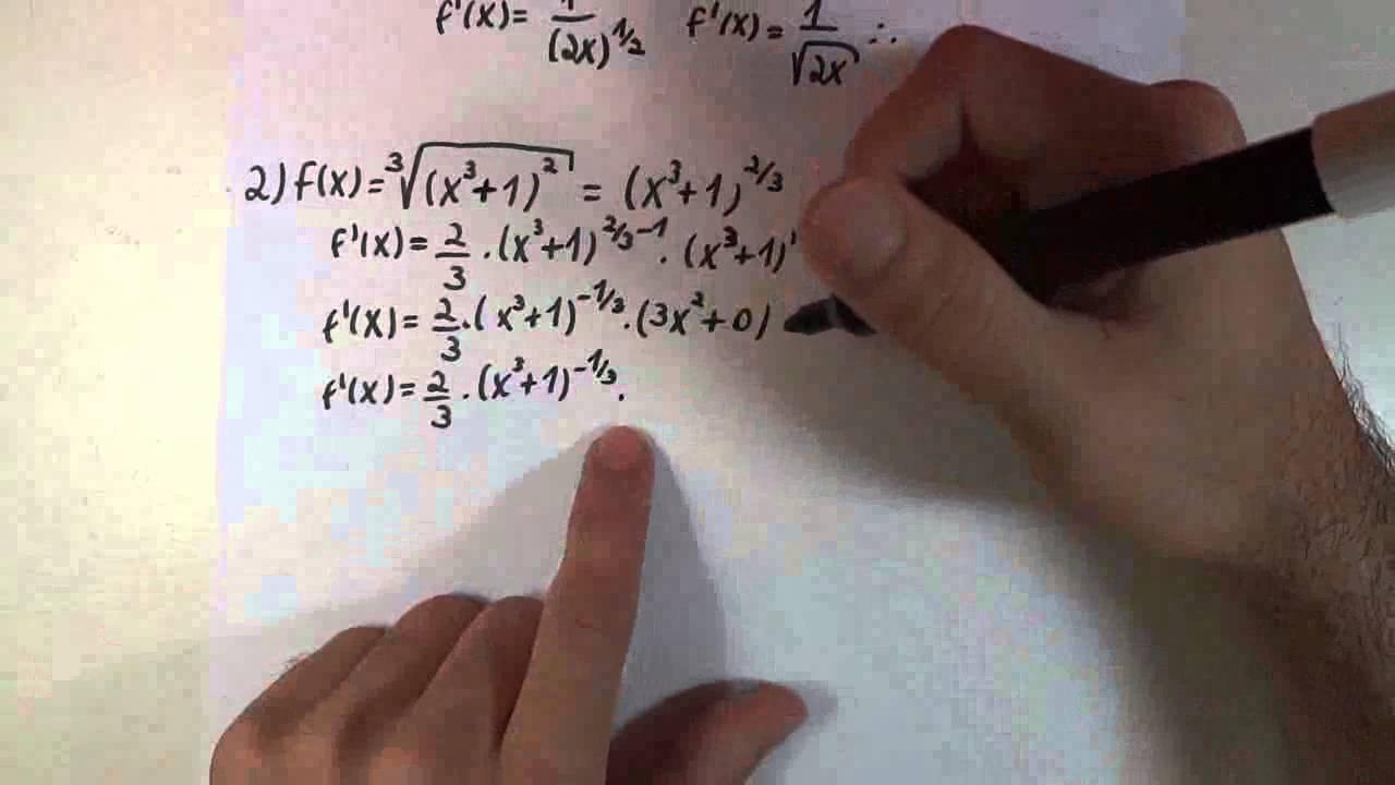 Derivadas / Regra 1 - Funções com Raiz ou Expoente
