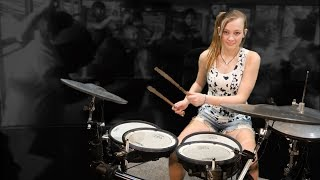 Van Halen – Hot For Teacher / Mia Morris 13-years old / Nashville Drummer, Musician, Songwriter