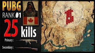 PUBG Rank 1 - Kaymind 25 kills [NA] Solo FPP - PLAYERUNKNOWN'S BATTLEGROUNDS