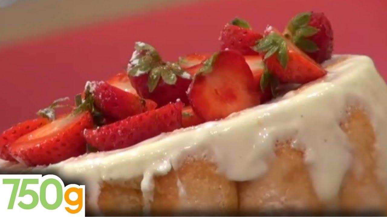 Charlotte au fromage blanc et aux fraises 750 grammes youtube - Jeux de charlotte aux fraises cuisine gateaux ...