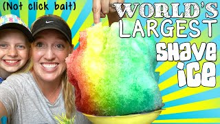 10 POUND WORLD'S LARGEST SHAVE ICE!!!! ⭐️
