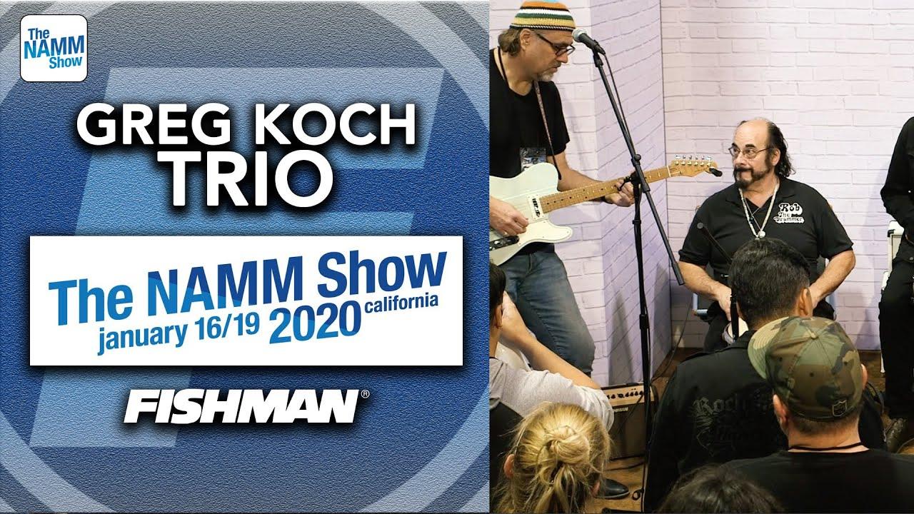 Greg Koch Trio - 「NAMM Show 2020」から約22分のライブ映像を公開 thm Music info Clip