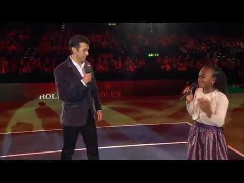 Chelsea Fontenel and Roger Federer - Match for Africa