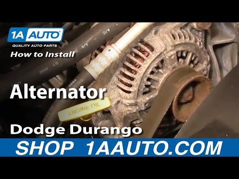 How To Install Replace Alternator Dodge Durango Dakota 98-03 1AAuto.com
