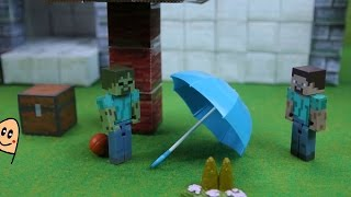 Minecraft Stop Motion ゾンビのボール遊び/Stop-motion Minecraft Theatre: The Lonely Zombie