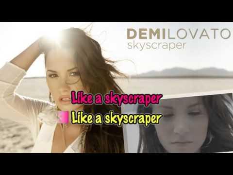 Demi Lovato-skyscraper (karaoke) video
