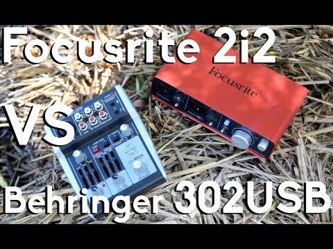 What Should Power Your Mic? | Behringer Xenyx 302USB vs Focusrite Scarlett 2i2