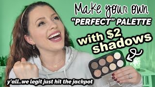WHERE HAS THIS BEEN?? // $2 Eyeshadow Make-Your-Own Palette
