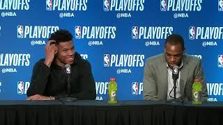 Giannis Antetokounmpo & Middleton Postgame Interview | Celtics vs Bucks - Game 3 | 2018 NBA Playoffs