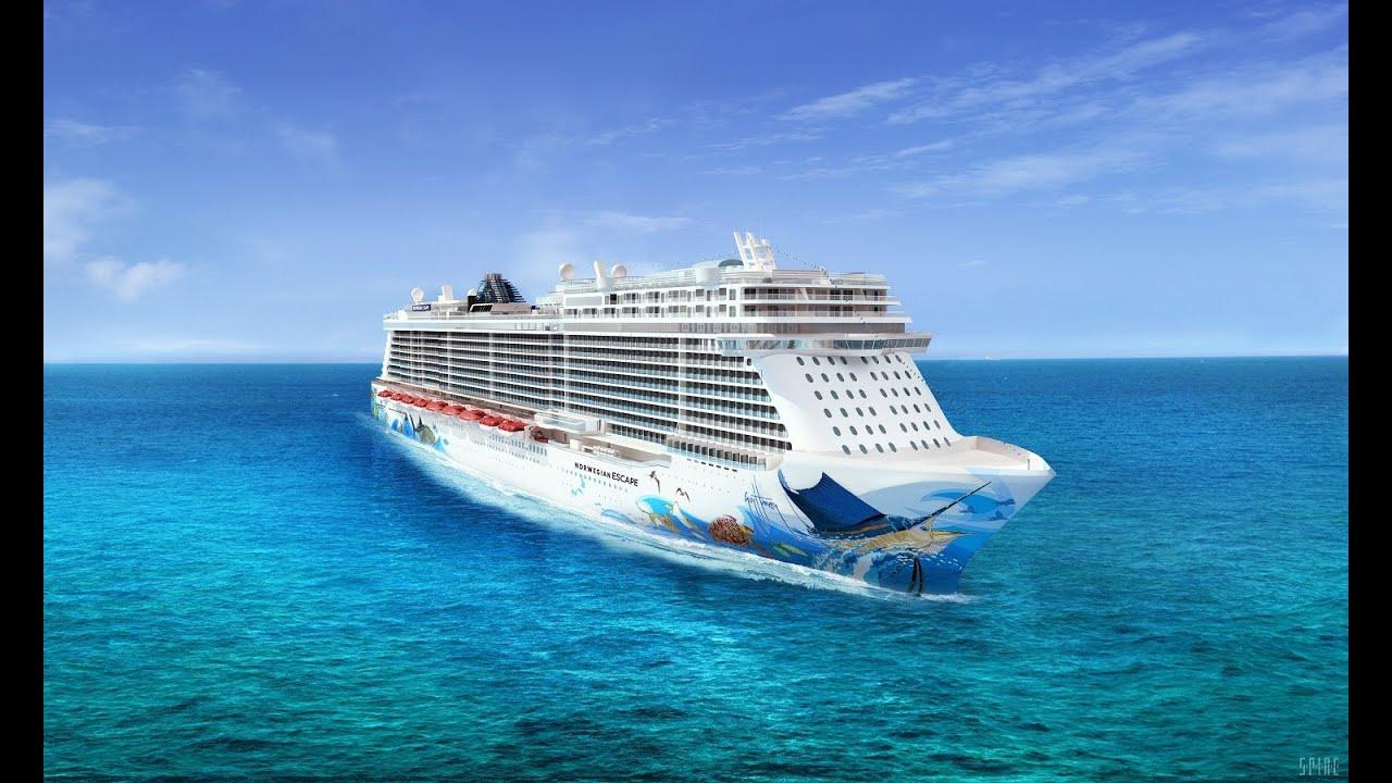 Guy Harvey Artwork To Adorn Hull Of New Norwegian Cruise Line Ship - YouTube
