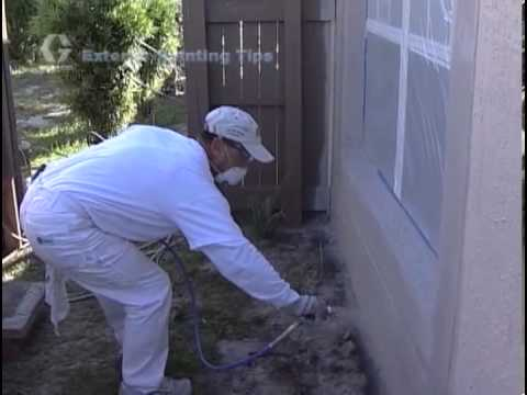 Exterior Painting with a Graco Magnum Airless Paint Sprayer