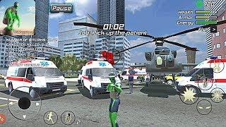 Rope Frog Ninja Hero - Strange Gangster Vegas #3 Ambulance Driver | Android GamePlay HD