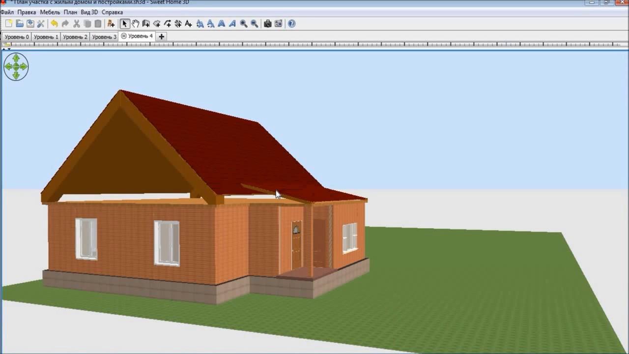 Как сделать крышу в 3d sweet home 3d 517