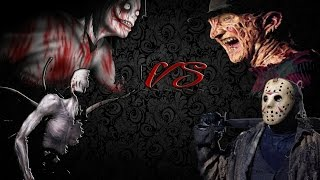 ESPECIAL DE HALLOWEEN | Jeff the killer, Slenderman Vs Freddy Krueger, Jason | La otra zona