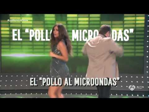 Cristina Pedroche baila junto con Alberto Chicote el baile del pollo