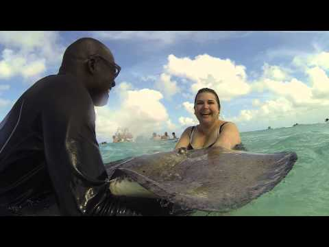 Holly with the Stingray - Grand Cayman Island