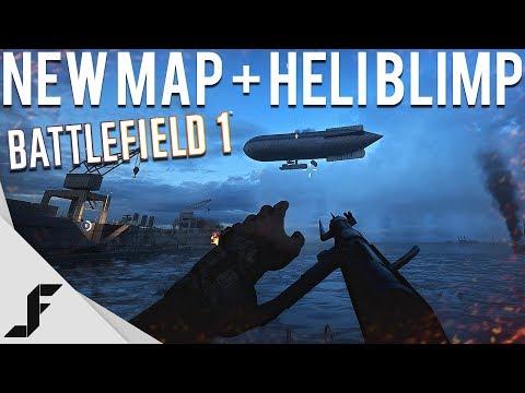 NEW MAP + HELI BLIMP - Battlefield 1 Zeebrugge Raid)