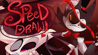 SPEED DRAW- Demons Again (Hazbin Hotel) - Vivziepop