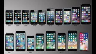 Evolution Of Iphone 2017 | Iphone1 to Iphone10|History of Iphone(2007-2017)