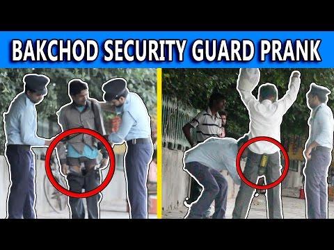Fake Security Guard Prank - Pranks in India