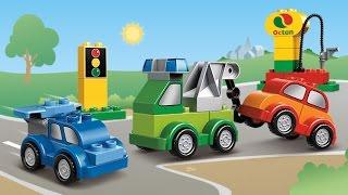 Мультфильмы Лего транспорт Мультики про машинки в городе Лего Видео для детей Все машинки Лего Дупло