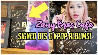 KPOP CAFE with SIGNED BTS + KPOP ALBUMS & PROPS FROM THE ACTUAL MUSIC VIDEOS!