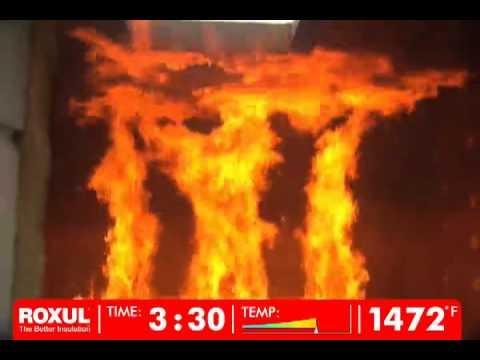 Roxul insulation fiberglass fire resistance comparison for Fiberglass insulation fire resistance