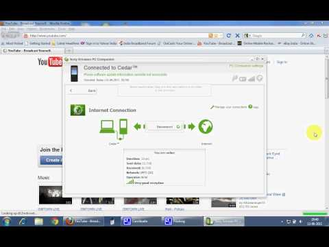 Video: 3G High speed internet on pc via sonyericsson cedar