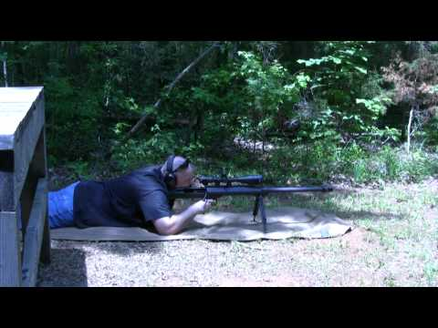 Barrett M99 .50 BMG using Armor Piercing Incendiary rounds.