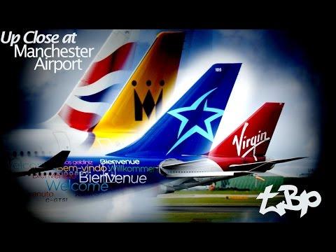 Air Transat Virgin Atlantic 747 British Airways A319 Monarch A321 Up Close Manchester Airport