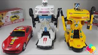 Trò chơi ô tô biến hình thành rô bốt người máy lắp ghép và phát nhạc vui nhộn cho |Robot Transformer