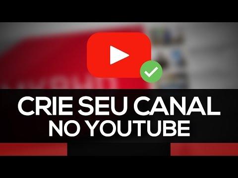 Como criar um canal no Youtube | ABRIR A CONTA | PASSO A PASSO thumbnail