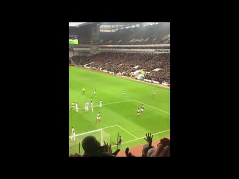 Mauro Zarate - Amazing Freekick. West Ham Vs West Brom - Fan Cam Slo Mo! Unreal view!
