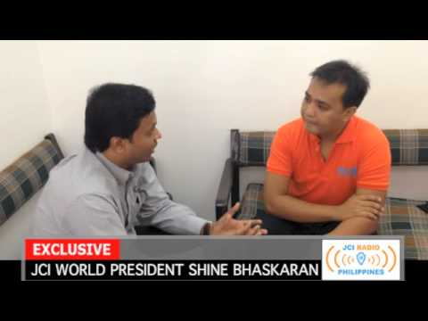 JCI Radio Philippines: Interview with 2014 JCI World President Shine Bhaskaran