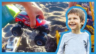 Toy Monster Trucks Ramp at the Beach