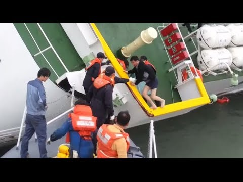 Sewol ferry captain flees as ship sinks with hundreds trapped inside