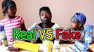 SNACKS TEST Real vs Fake | Mit Geschwister