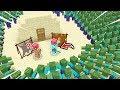 FAKİR'in EN GÜVENLİ ÇÖL ADASI VS ZOMBİ KIYAMETİ! 😱 - Minecraft