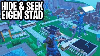 HIDE & SEEK IN EIGEN STAD! - Fortnite: Battle Royale Creative (Nederlands)