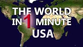 World in 1 munite: UNITED STATES