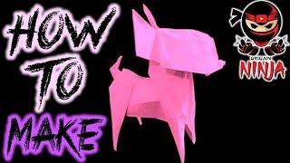 Оригами видео собака кусака