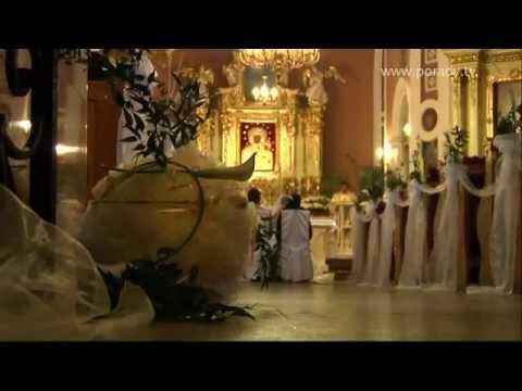 Dekoracja Kościoła - ślub (www.porady.tv)
